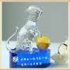 Clever Monkey Crystal Figurine Gifts with Yellow Ball For Wedding Souvenir