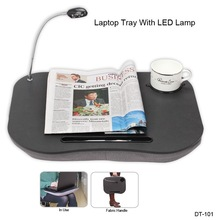 Portable Laptop Tray cushion tray with LED light and cup holder for HP for Macbook