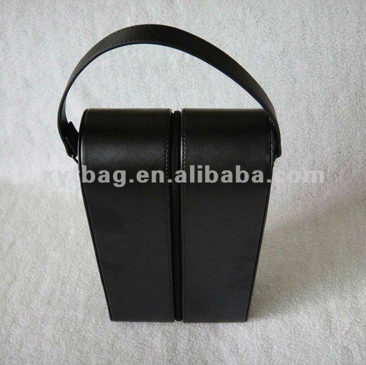 High quality leather wine carrier wine box