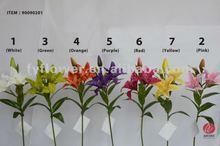 wholesale artificial tiger lily flower for flower arrangement and wedding decoration flores artificiales