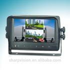 7 Inch waterproof Digital Color LCD Quad monitor
