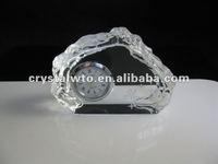iceberg crystal table clock