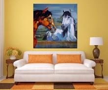 Acrylic Wall Decor Horse Oil Painting on Canvas