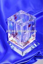 Wholesale Crystal Office Stationery For Crystal Glass Eagle Pen Holder Sandblasting Engraved Eagle