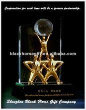 fabulous antique 3 men cooperation achievement plaques awards