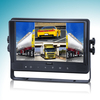 9 inch quad car monitor retroceso retrovisor with built-in DVR with touch screen and button