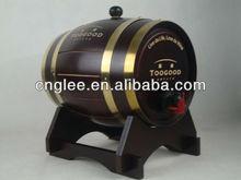wooden wine barrel(3L) with foil bag