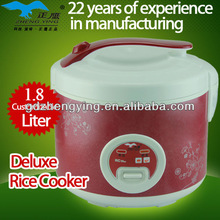 1.8L 700W electric cooker in red with special lid handle design
