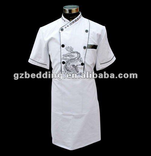El más nuevo diseño agradable restaurante uniformes con delantal/chef de sushi uniformes/de estilo japonés uniforme del cocinero