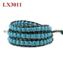 2012 Newest Hot selling gemstone wrap bracelets Best price Girls Gift