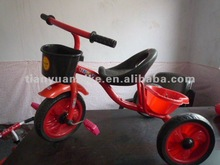 high quality hot selling strong steel safe baby tricycle kids children tricycle with basket