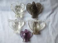 CUTE SMALL Natural Quartz Crystal Angel Carvings,natural energy crystals,crystal angel figurine