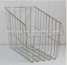 Wire Metal Basket - Industrial Storage - Office - Kitchen - COTTAGE CHIC - INDUSTRIAL