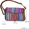 Ethnic customized stripes bags for women with adjustable shoulder belt