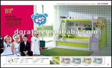 2012 hot sale green children bedroom suit in MDF E1 board for children or teenager bedroom sets