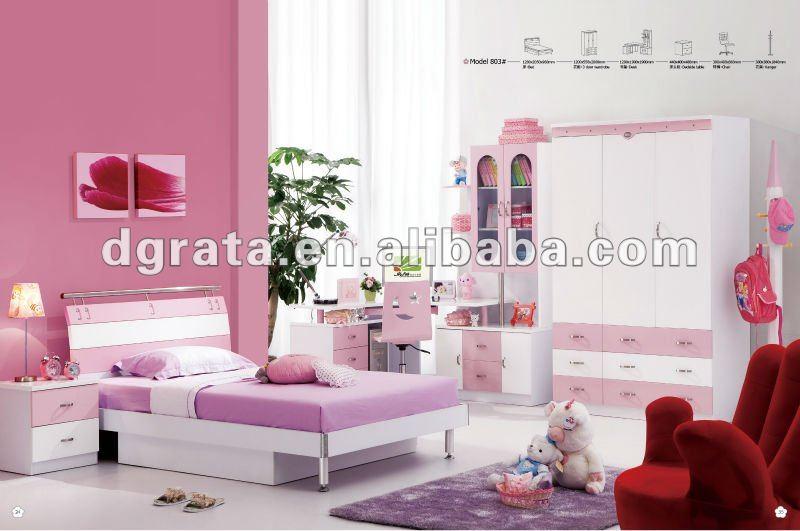2012 nouvelle petite fille chambre costume pour maison est faite de e1 mdf et peinture pour for Modele chambre fille 10 ans