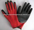 Rouge nylon latex revêtu des gants de travail ( fabrication )