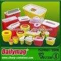 Montado en la pared de cajas de objetos punzocortantes eliminación de contenedores