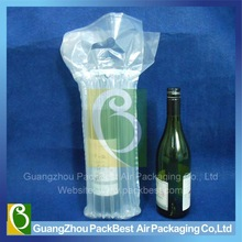 recycle plastic single bubble wine bottle wrap with handle