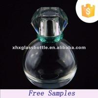 wholesale 80ml parfum bottle fancy round glass bottles for perfume