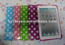 Hot sale for apple ipad mini case ,Polka Dot tpu case for apple ipad mini case