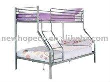 Silver Metal Triple Bunk bed