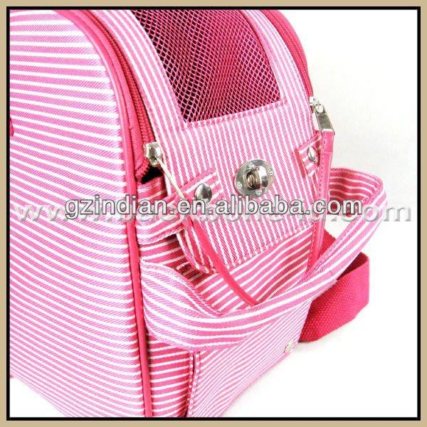 Lovely Pink Shoulder Stripe Dog Bag BA1025P-S
