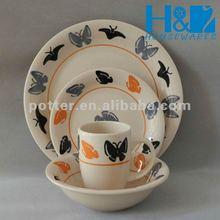 Hot selling handpainted tableware set, porcelain dinnerware, stoneware dinner set,
