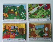 fridge magnet puzzle, jigsaw fridge sticker, educational puzzle A548