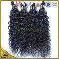 Enredo y vertimiento libremente 5A grado 100% sin procesar de la virgen extensiones de cabello natural rizado