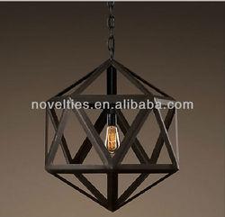 Vintage Steel Polyhedron Modern Retro Edison Pendant Chandelier energy saving light bulbs