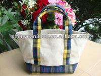 FASHION LADY CANVAS STRIPE HANDBAG SHOULDER BAG PURSE SHOPPING TOTE Canvas Handbag Tote Bags manufacturer