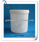 1000ml white cosmetic pp cream jar with different size