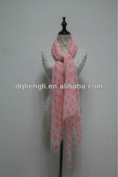 Scarf manufacture polyester printing shawl scarf