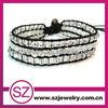 NTB beautiful 3 row gemstone wrap around bead bracelet