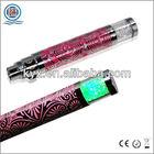 new design bright shiny electronic cigarette diamond battery with colorful led light brand names e cigarettes