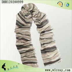 Fashion Striped Style Cashmere Scarf Women's Accessories