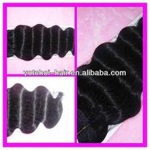 wholesale Grade AAAAA 20inch color #1 deep wave a bundle of hair