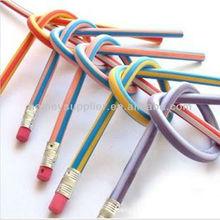 elastic soft pencils, flexible pencil