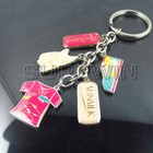 custom athletic shoes and t-shirts metal sport keychain