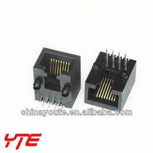 Right angel Plastic Rj45 Connector/Plug/Socket