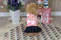 dobaz bowknot chapeado saia pet roupa de luxo cão roupas de fabricação na china