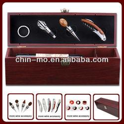 4pcs wine accessories wooden wine box for wine bottle