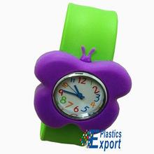 Colorful promotional slap watch kids bracelet funny silicone wristband
