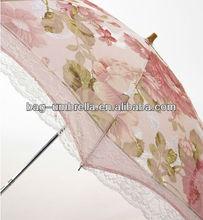 high fashion 2 folding embroidered japanese style umbrella