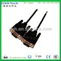 D-sub cable macho 9 pines para ethernet/sp3/dvd/impresora de los cables de módem cable db 9