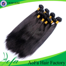 Accept sample order 100% virgin Sliky malaysian straight hair