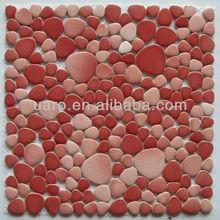 YC1702 warm red random arrange local decorative ceramic mosaic tile