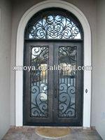 Exterior fancy metal insulated double doors
