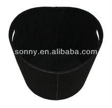 2013 new design round black laundry basket wholesale